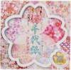 C0080-1 - Sakura Chiyogami Collection, decorate fiori di ciliegio un lato bianco e tinte unite rosa