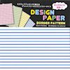 C0275-2 - Design Paper - Border Pattern, un lato a righe colorate, un lato bianco